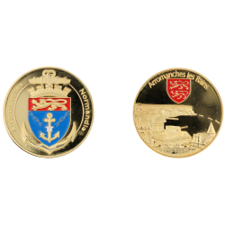 E1128 Medal 40 mm Arromanches Blason
