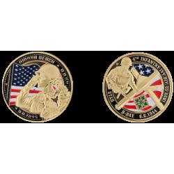 E1124 Medal 40 mm Plage Omaha Beach Utah Beach