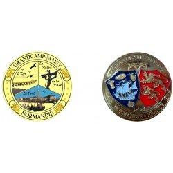 E1143 EXCLUSIVITE CLIENTVente uniquement en Magasin Medaille 40 mm Grandcamp Maisy Perso 2014