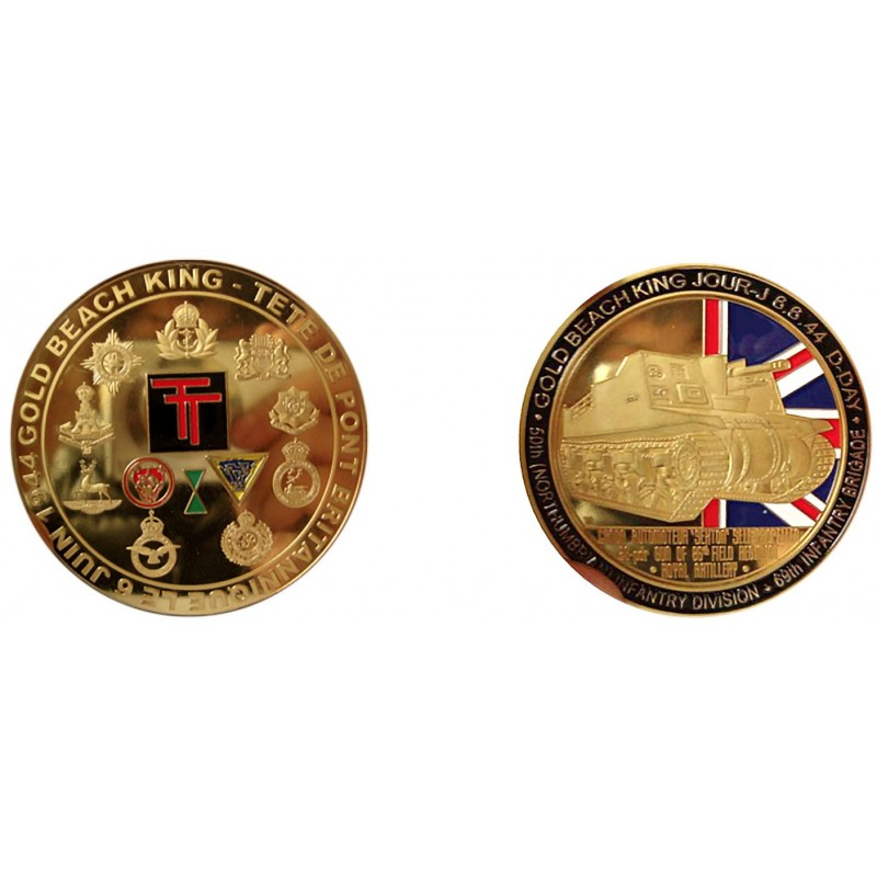 F1103 Medal 70 mm Association America Gold Beach 1 Phare