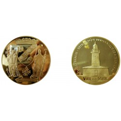 F1114 Medal 70mm Gold Beach