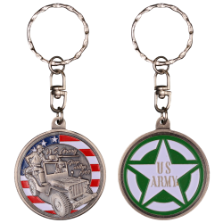 PCDD1S Pc Rond Jeep Wwii vintage silver