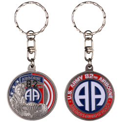 PCDD3S Pc Rond 82Nd Airborne Division vintage silver