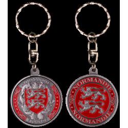 PCDD7S Keychain Round Normandie vintage silver