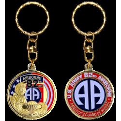 PCDD3 Keychain Round 82Nd Airborne Division