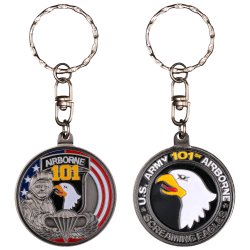 PCDD4S Pc Rond 101St Airborne Division vintage silver