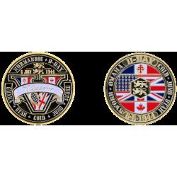 Médaille 40mm Victory + Drapeaux