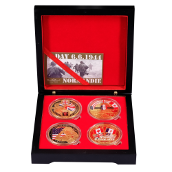 BOXDD4-75 Luxury Case 4 Medals 75 eme on box
