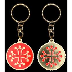 PC094 Keychain Round Croix Occitane