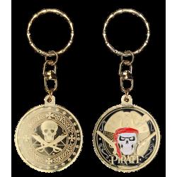 PC086 Keychain Round Pirate