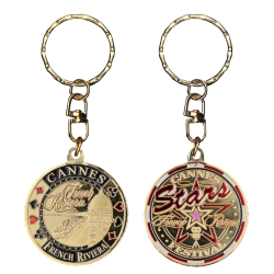 PC062 Keychain Round Cannes Festival
