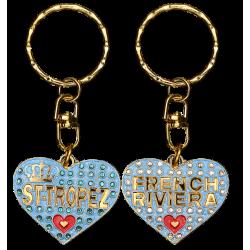 PC053 Key Ring HeartBlue St Tropez