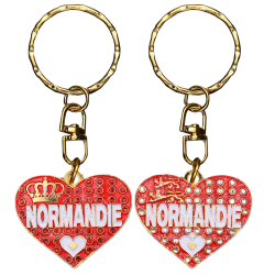 PC046 Key Ring Heart Red Normandie
