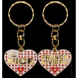 PC044 Key Ring Heart WhiteNice