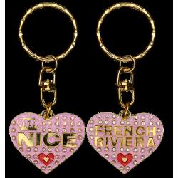 PC042 Key Ring Heart Pink Nice