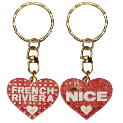 PC041 Key Ring Heart Red Nice