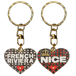PC040 Key Ring Heart Red Nice