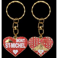 PC036 Key Ring Heart RedMont Saint Michel