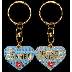 PC033 Key Ring Heart BlueCannes