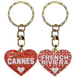 PC031 Key Ring Heart Red Cannes