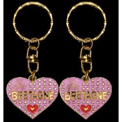 PC026 Key RingHeart PinkBretagne