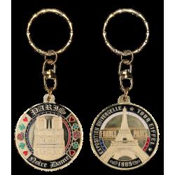 PC023 Keychain Round Notre Dame