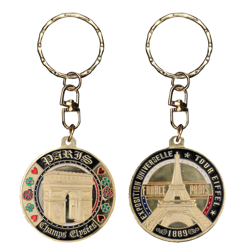 PC003 Keychain Round Arc De Triomphe