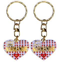 PC049 Key Ring Heart White Normandie