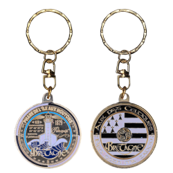 PC072 Keychain Round Phare Ile Aux Moutons
