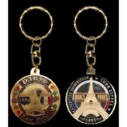 PC022 Keychain Round Tour Eiffel Since 1889