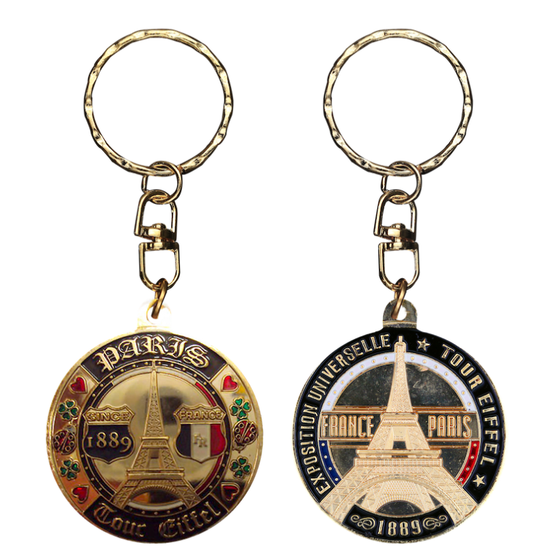PC022 Keychain Round Tour Eiffel Since 1889