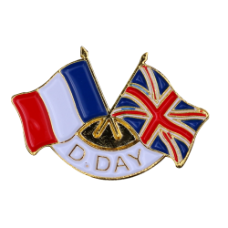 342 Pins D-Day 2 Drap.France  Grande Bretagne