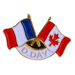 343 Pins D-Day 2 Drap. France  Canada