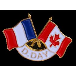 343 Pins D-Day 2 Drap. France  Canada