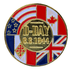 PDD9 Pins D-Day Drapeaux France  Canada  USA  UK