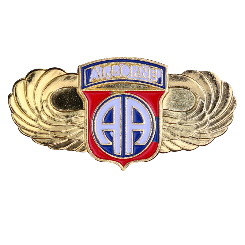 PDD5 Badges 82nd Division With Butterfly Clutch