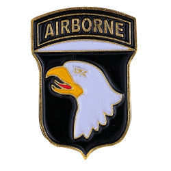 PDD4 Badges 101 St Airborne With Butterfly Clutch