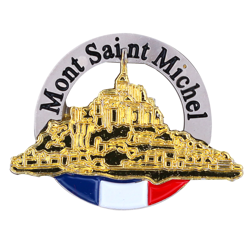 PDD20 Badge Mont Saint Michel with Butterfly Clutch