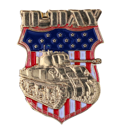 PDD13 Badges Tank Wwii With Butterfly Clutch