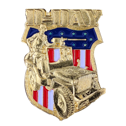PDD12 Badges Jeep Wwii With Butterfly Clutch