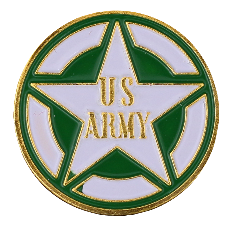 PDD10 Badge Star US Army With Butterfly Clutch