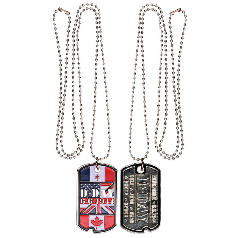 DT4 Dog Tag Flags USA / CANADA / UK/ FRANCE