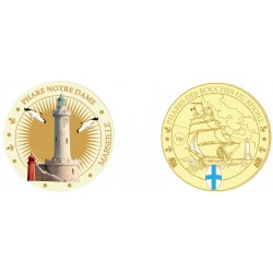K11203 Medal 34mm Lighthouse of Notre Dame of Marseille
