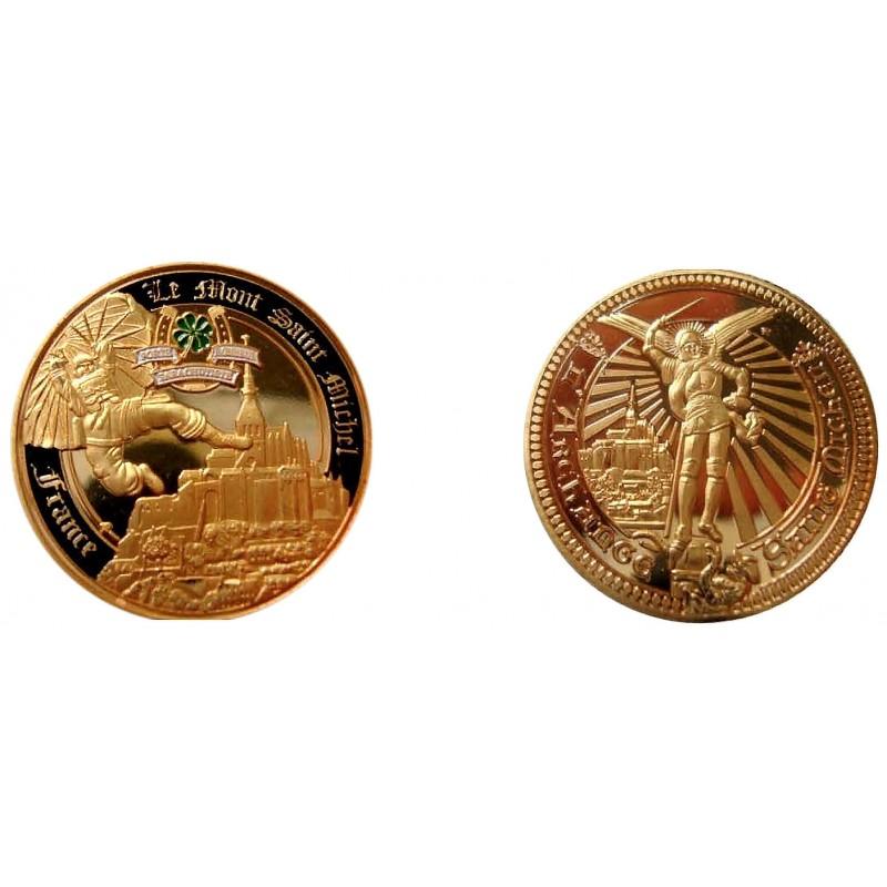 D11384 Medal 32 mm Le Mont St Michel Para. Porte Bonheur