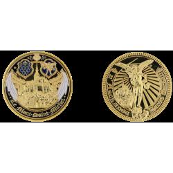 D11382 Medaille 32 mm Le Mont St Michel Les Ailes Blanches