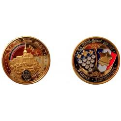 D11379 Medaille 32 mm Le Mont St Michel Arc En Ciel