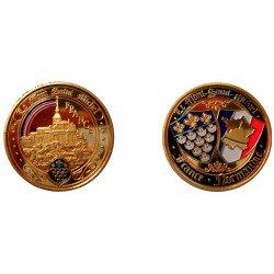 D11379 Medal 32 mm Le Mont St Michel Arc En Ciel