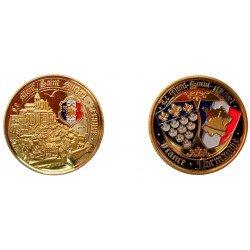 D11378 Medal 32 mm Le Mont St Michel Cite Vue Du Ciel + Shield