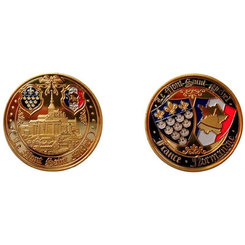 D11377 Medal 32 mm Le Mont St Michel Ange + Blasons