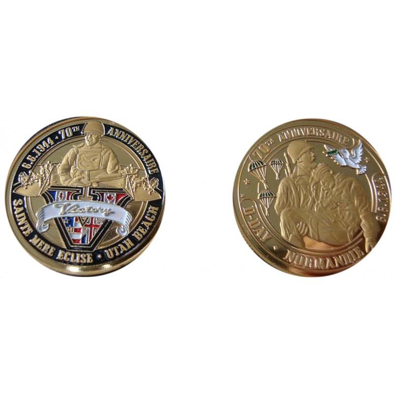 D11317 Medal 32 mm Le Mont St Michel Vue Du Ciel 2014